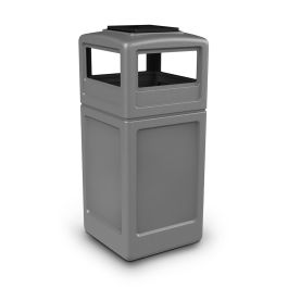 Commercial Zone PolyTec Series 42 Gallon Square Receptacle with Ashtray Dome Top