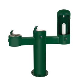 Stern Williams ADA-Compliant Outdoor Water Bottle Filler Station with High-Low Drinking Fountains