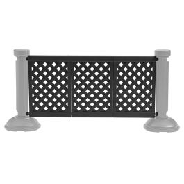 Grosfillex 3-Panel Section of Portable Patio Fencing