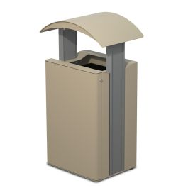 Anoa Airi 33-Gallon Trash Receptacle with Side Door, Curve Top