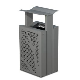 Anova Airi Leaf 33-Gal. Trash Receptacle with Side Door