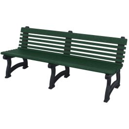 Polly Products Willow 6 ft. Recycled Plastic Bench