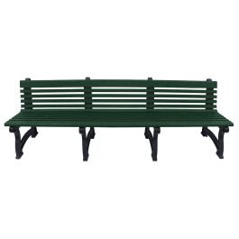 Polly Products Willow 8 ft. Recycled Plastic Bench