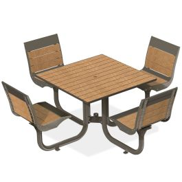 Anova Beacon Hill Recycled Plastic Table, 4 Seats