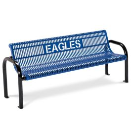 Anova Ultra 6' Slotted Steel Custom Bench, Portable/Surface Mnt