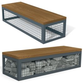 Anova Canyon Thermory Gabion-Style 6' Bench