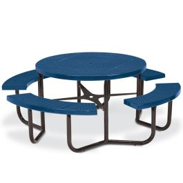 Anova Round Perforated Steel Table, Portable Frame