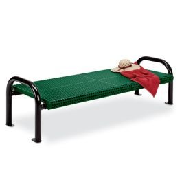 Anova Ultra 6' Perforated Steel X-Wide Flat Bench, Portable/Surface Mnt