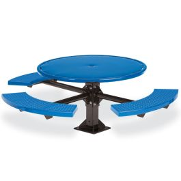 Anova Round Perforated 3-Seat ADA Pedestal Table, Surface Mount