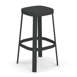 emu Thor Outdoor/Indoor Stacking Backless Barstool - Pack of 4