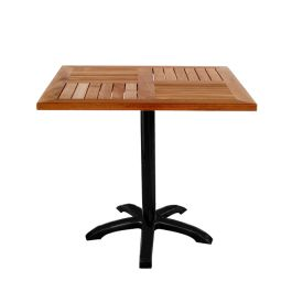 "emu TOM 36"" Square Table with Solid Natural Teak Wood Slat Top"