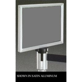 Sign Frame for Self-Retracting Crowd Control Post with Satin Black Finish