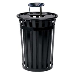 WITT Oakley 36 Gallon Standard Band Receptacle with Ashtray Top