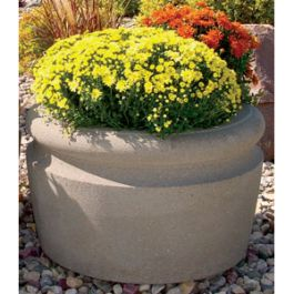 "Petersen Wheatland 36"" Diameter Concrete Planter"