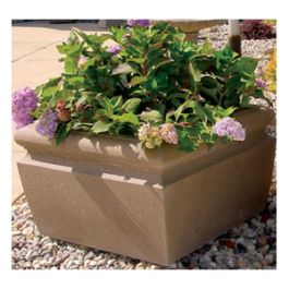 "Petersen Wheatland 48"" Square Concrete Planter"