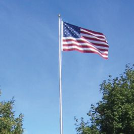 25' Tapered Aluminum Flagpole