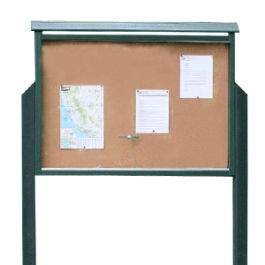 Frog Furnishings Large One-Sided Message Center with 2 Posts