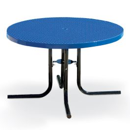 "Anova Streetside 46"" Round Expanded Steel Café Table"