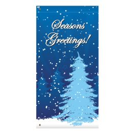 "Anova 60"" Tree, Seasons Greeting Banner"