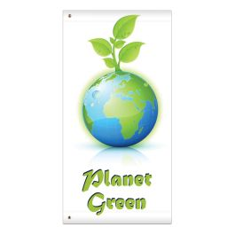 "Anova 60"" Earth, Planet Green Banner"