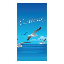"Anova 60"" Seagulls with Custom Wording Banner"