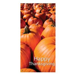 "Anova 60"" Pumpkins, Happy Thanksgiving Banner"