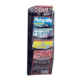 Safco 5-Pocket Onyx Magazine Rack