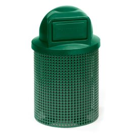 Anova Ultra 32 Gal Perforated Steel Trash Receptacle, Dome Top