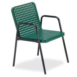 Anova Streetside Square Perforated Steel Café Chair