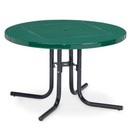 "Anova Streetside 46"" Round Perforated Steel Café Table"