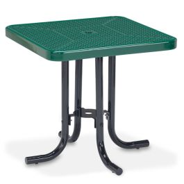 "Anova Streetside 30"" Square Perforated Steel Café Table"