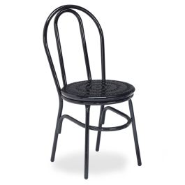 Anova Streetside Round Perforated Steel Café Chair