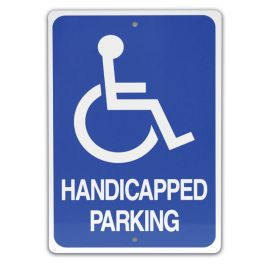 "18"" x 12"" Handicapped Parking Sign with Symbol"