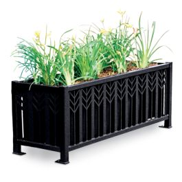 "Petersen Spencer 24""H x 21""W x 63""L Rectangular Steel Planter"