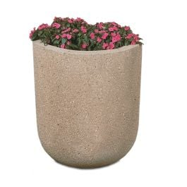 "Petersen RP Series Concrete 33"" High x 24"" Diameter Round Standard Planter"