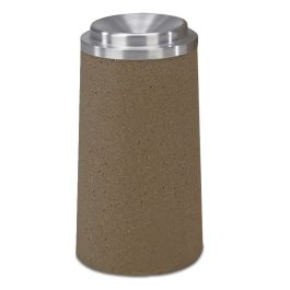 Petersen Concrete Round Ash Urn with Funnel Cover