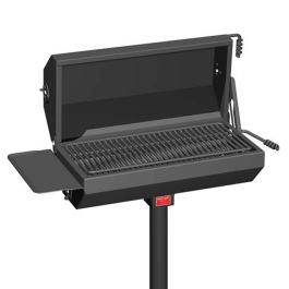 Pilot Rock EC-40 Series 500 Sq. Inch Covered Park Grill with Shelf and Inground Mount