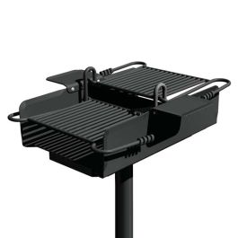 Pilot Rock C2-36 Series 640 Sq. Inch Premier Park Grill with Inground Mount