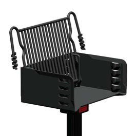 Pilot Rock J-20 Series 300 Sq. Inch Multilevel Park Grill with Inground Mount
