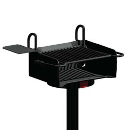 Pilot Rock A-20 Series 320 Sq. Inch Adjustable Park Grill with Inground Mount