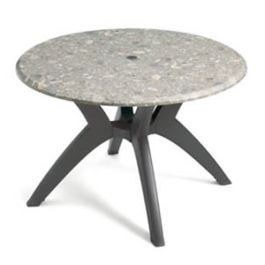 "Grosfillex 42"" Round Pedestal Table"