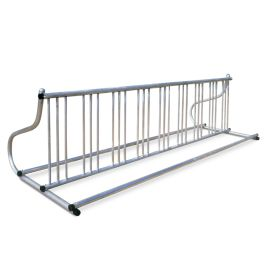 Madrax Gridrac Grid Style Double-Sided Bike Rack with Galvanized Finish, 18-Bike Capacity