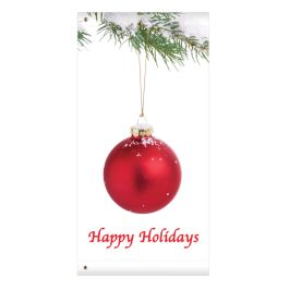 "Anova 60"" Red Ornament Banner"