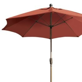 "Fiberbuilt 9' Octagon Classic Eight Rib Umbrella, Crank Lift System, Prem Color - 99"" High"