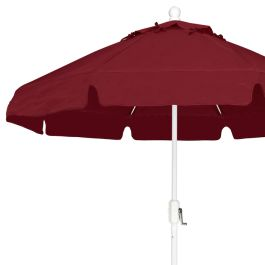 "Fiberbuilt 7 1/2' Octagon Eight Rib Market Umbrella with Valance, Crank Lift System, Std Color - 90"" High"