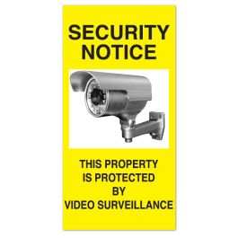 "Anova 21""H x 10 1/2""W Plastic Sign - Security Notice"