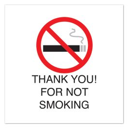 "Anova 10 1/2"" Sq Plastic Sign-Thank You For Not Smoking w/Symb"