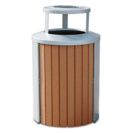 Anova Madison 35 Gal Recycled Plast Receptacle, Bonnet Ash Top