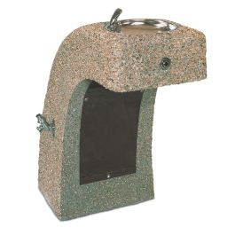 Petersen Concrete ADA Accessible Drinking Fountain with Enclosed Bubbler and Concrete Bowl