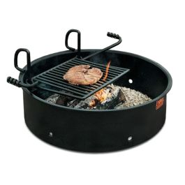 "Pilot Rock FA-30 Series Campfire Ring Grill with 11"" Wall"